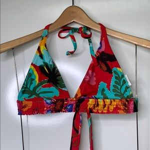 LUCKY BRAND Tropical Floral Triangle Swimsuit Top